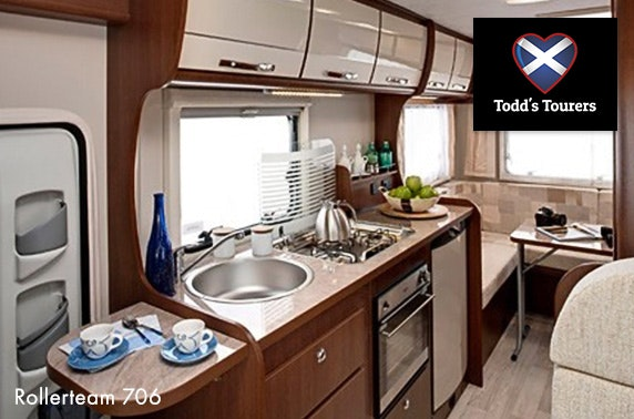Motorhome hire – from £11pppn