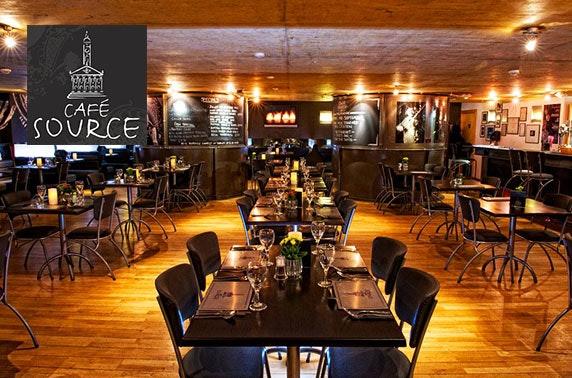 Café Source, 2 course dining, Merchant City
