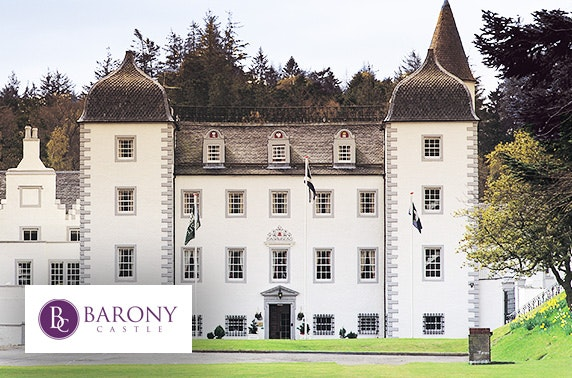 Barony Castle stay, Peebles