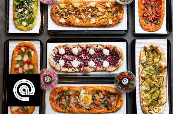 Award-winning @pizza, West End; valid from Jan 2019 - from £5pp
