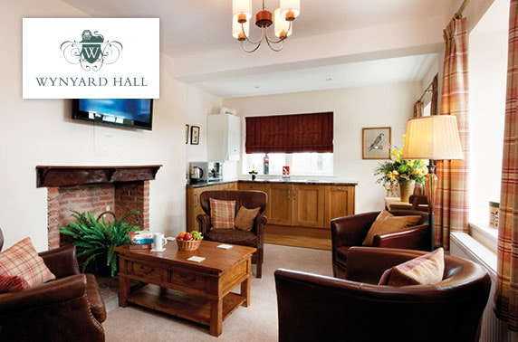 4* Wynyard Hall hot tub cottage stay - £41pp