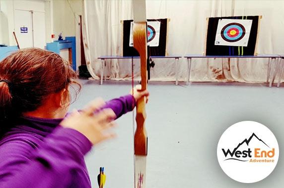 Archery or kayaking, Glasgow