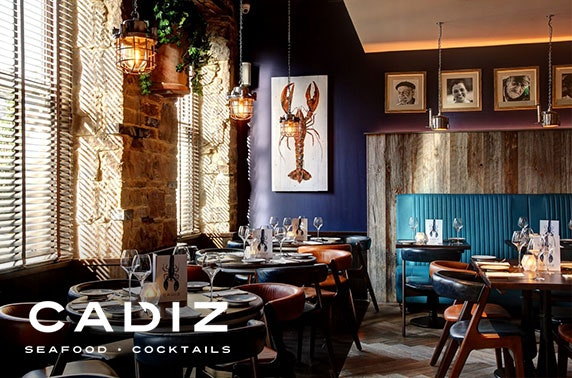 Seafood dining & cocktails at Cadiz, George Street