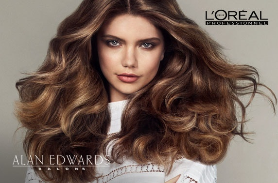 Alan Edwards cut, blow dry & colour