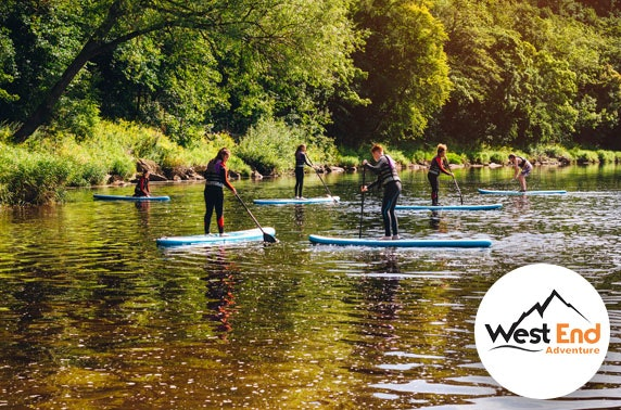 Paddle boarding session, Glasgow's West End