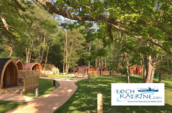 Loch Katrine lodge stay & cruise