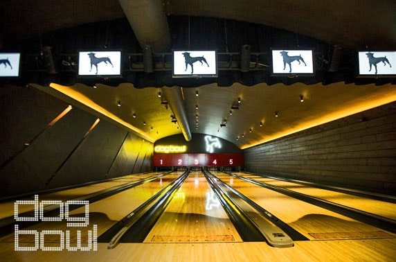 Bowling & dining at Dog Bowl, nr Oxford Road - from £8pp
