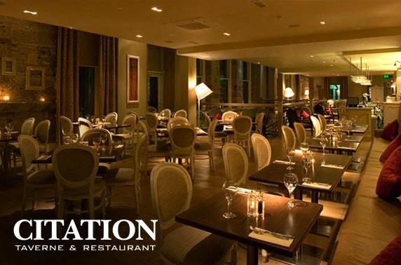 Sunday dining with Prosecco at Citation, Merchant City