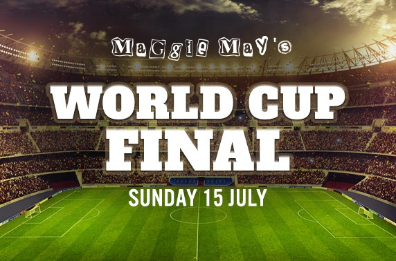 Free ticket and treats at Maggie May's World Cup Final party