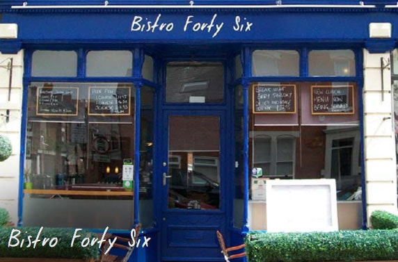Michelin-recommended Bistro Forty Six dining, Jesmond