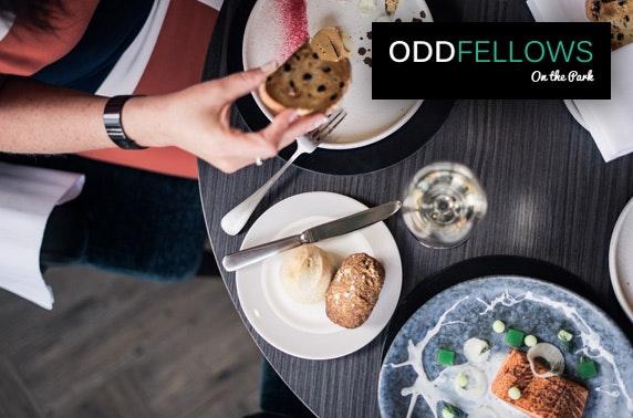 Oddfellows On the Park tasting menu & drinks