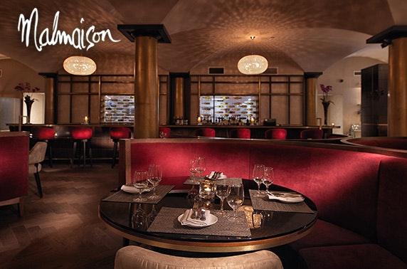 Malmaison Glasgow dining; 2019 availability