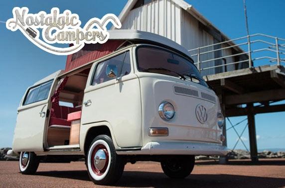 Vintage VW campervan hire