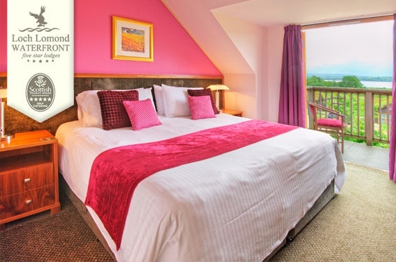 5* Loch Lomond Waterfront lodges - from less than £14pppn