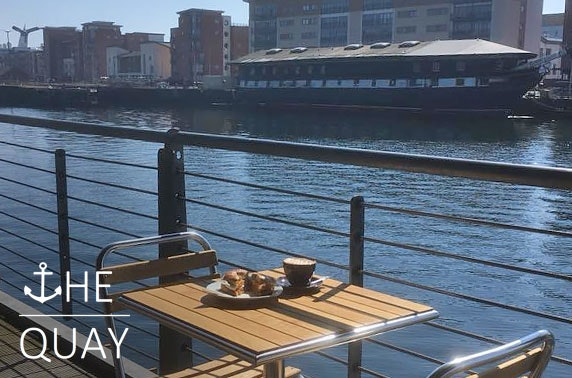 The Quay hot drink & treats or lunch