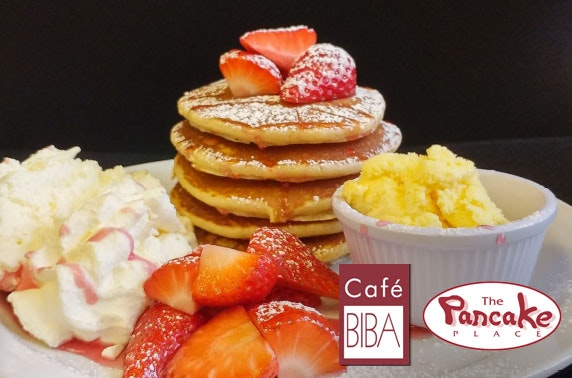 The Pancake Place or Cafe Biba dining