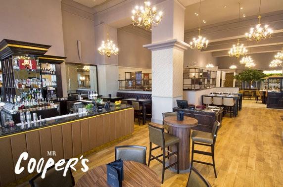 2 AA Rosette Mr Cooper's dining