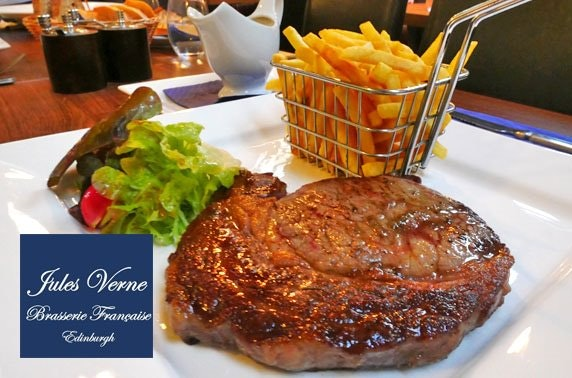 Jules Verne steak & wine; rated 4.5/5 on TripAdvisor'