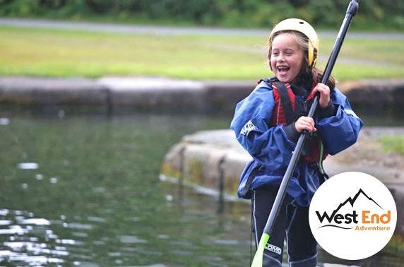 Kids' paddleboarding or kayaking party