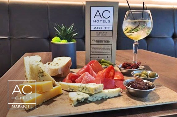 Gin & sharing board at AC by Marriott, Salford Quays