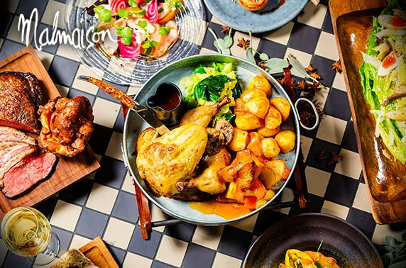 4* Malmaison Sunday lunch; 2019 availability