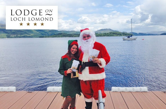 Meet Santa at 4* Lodge on Loch Lomond