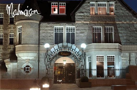4* Malmaison Aberdeen dining & Prosecco