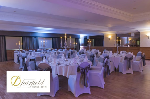 Fairfield House wedding package, Ayrshire