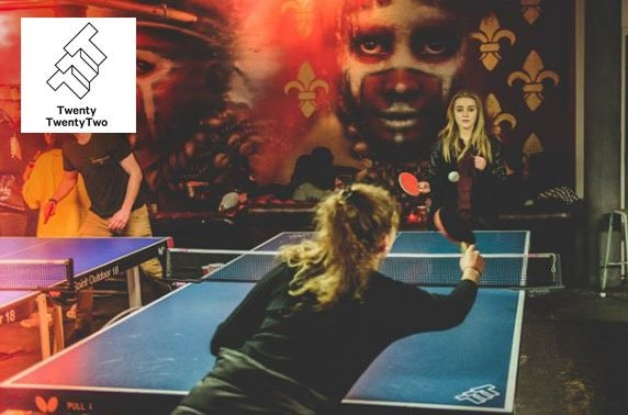 Ping pong and drinks at Twenty Twenty Two