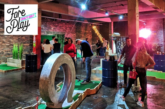 Newly-opened Fore Play Crazy Golf, Kinning Park - from £4pp