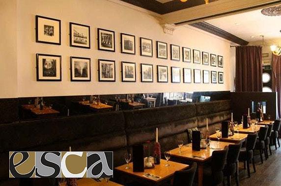 Esca Italian exclusive restaurant hire, Merchant City