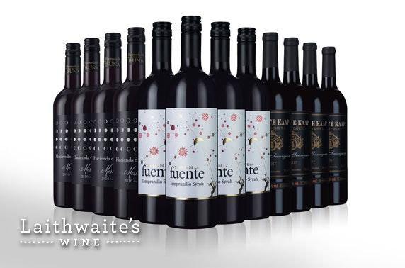 12 bottles of red wine & 1 mystery bottle