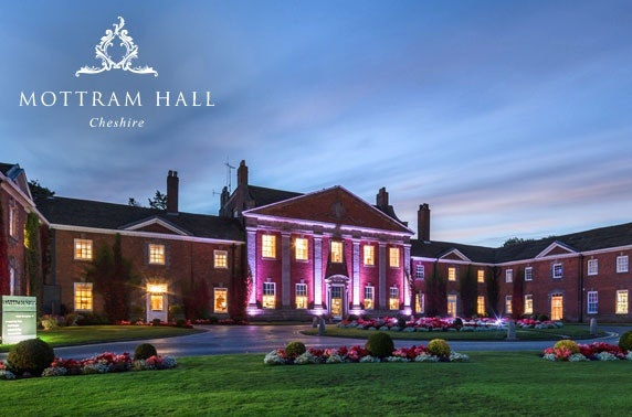 4* luxury Mottram Hall stay, Cheshire