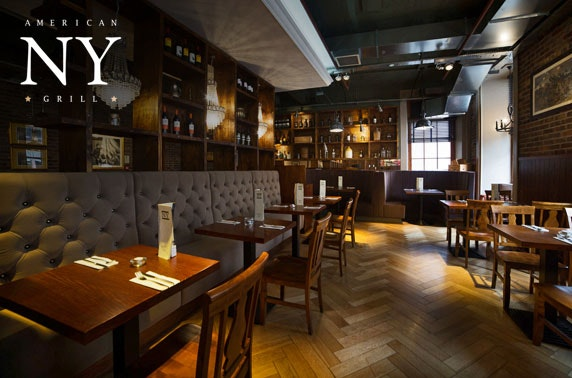 NY American Grill dining and drinks, Princes Square - from £6pp