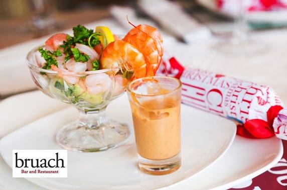 Bruach festive dining & Prosecco