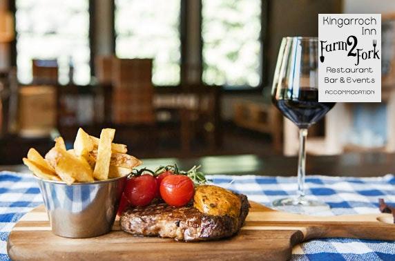 Award-winning Kingarroch Inn food & drinks voucher