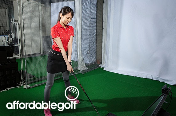 Indoor golf practice sessions; valid 7 days