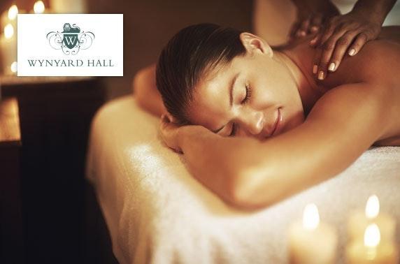 4* Wynyard Hall spa treatment & dining