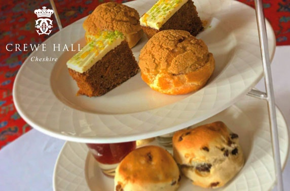Champagne afternoon tea at 4* Crewe Hall