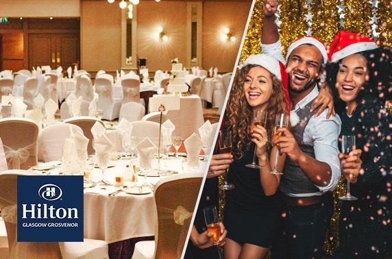Christmas party night at 4* Hilton Glasgow Grosvenor
