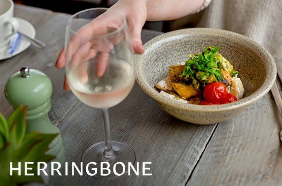 Herringbone 2 course dining; choice of 2 locations