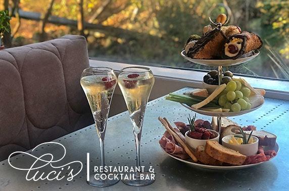 Italian afternoon tea or sharing platter & drinks