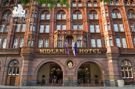 4* multi award-winning Midland Hotel stay, Manchester