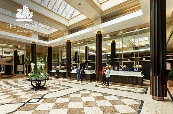 4* multi award-winning Midland Hotel stay, Manchester