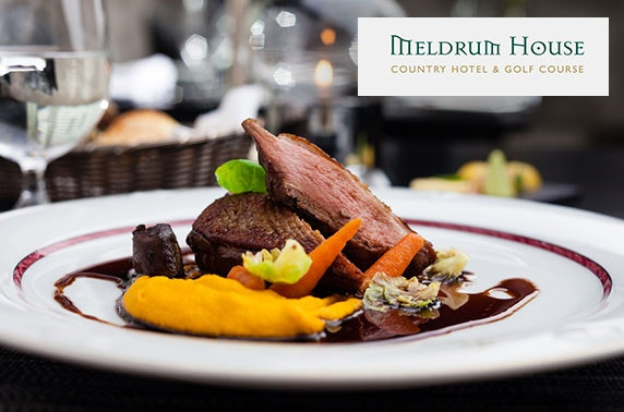 4* Meldrum House stay with 2AA rosette dining