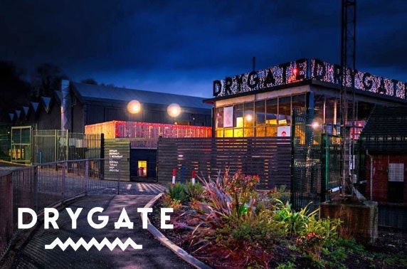 Drygate Brewing Co. burgers and beers