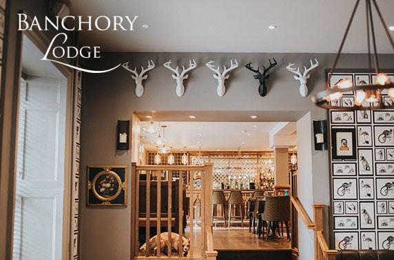 Award-winning Banchory Lodge lunch