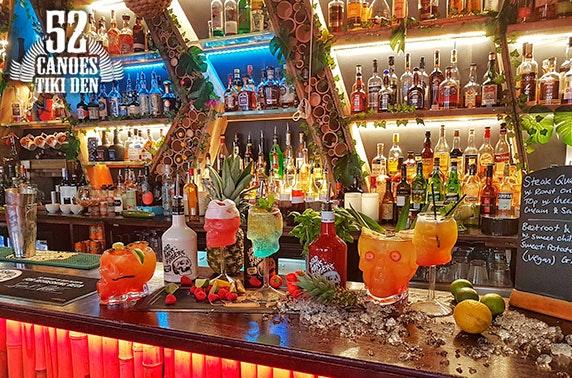 52 Canoes Tiki Den cocktails & nachos, Grassmarket