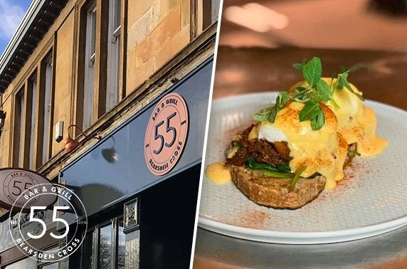 Bearsden brunch at 55 Bar and Grill - £5pp