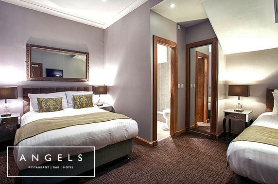 Recently-refurbished Angels Hotel DBB - £60